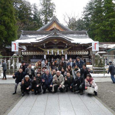 新年顔合わせの日白山比め神社参拝